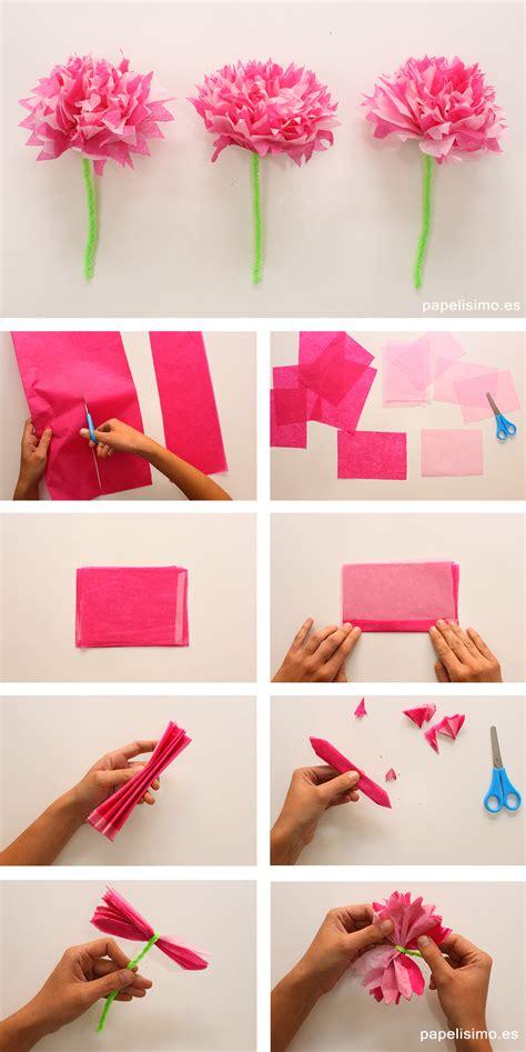 flores en papel seda paso a paso c 243 mo hacer flor de papel de seda papelisimo