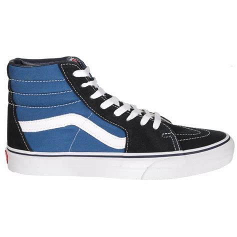vans skate shoes vans vans sk8 hi skate shoes navy vans from