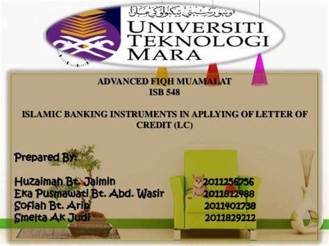 Musharakah Credit Letter islamic banking instruments in apllying of letter of credit lc