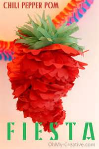 Pom decoration for cinco de may or a mexican fiesta oh my creative