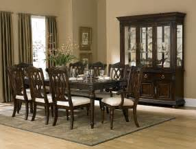 Classic Dining Room Tables Rich Cherry Finish Classic Dining Room Table W Optional Items