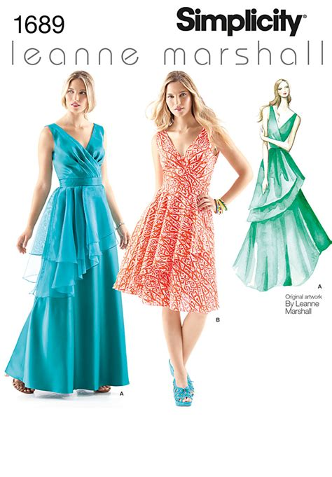 pattern review best of 2012 simplicity 1689 misses dresses leanne marshall collection