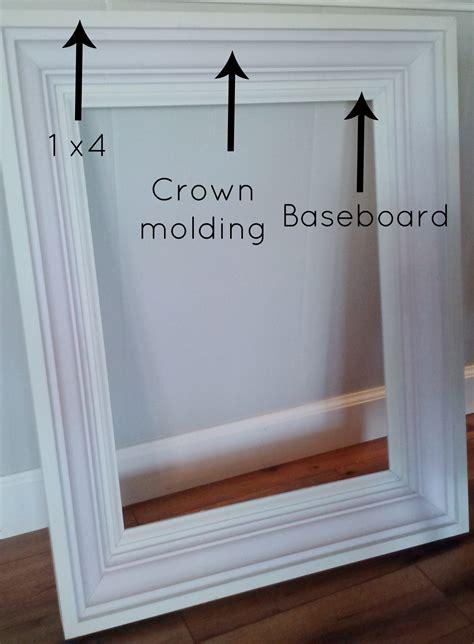 diy mirror frame molding how to build a custom frame mine pinterest craft
