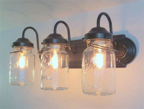 jar bathroom light fixture 1000 ideas about vintage bathroom decor on