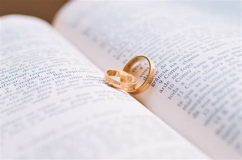 Wedding Rings On Bible by Free Stock Photo Of Bible Book Golden Ring
