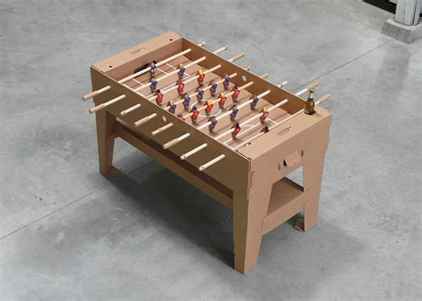How To Make A Table Football Out Of Paper - kartoni cardboard foosball table by kickpack