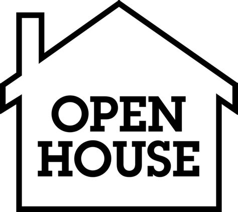 how to do an open house open house clip art clipart best