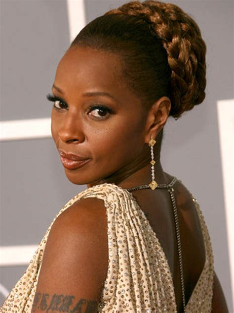 mary j natural hair wedding hair 10 effortless celebrity inspired looks