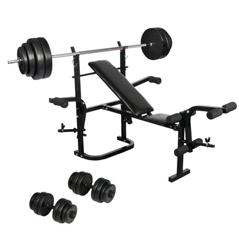 barbell or dumbbell bench vidaxl co uk folding weight bench dumbbell barbell set