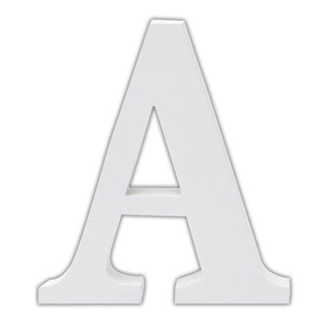 Letters In classic white wooden alphabet letters