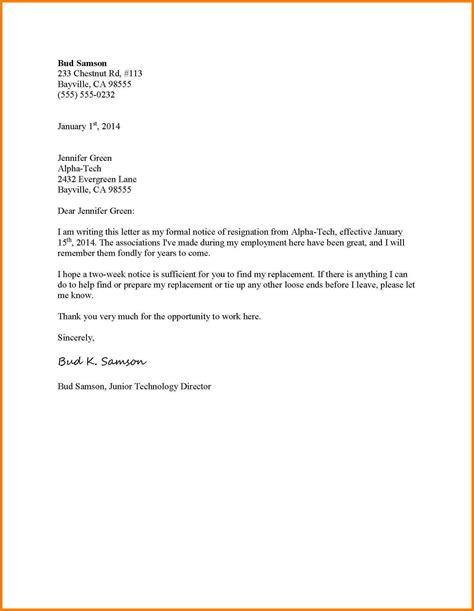 formal resignation letters 10 formal resignation letter the snohomish times