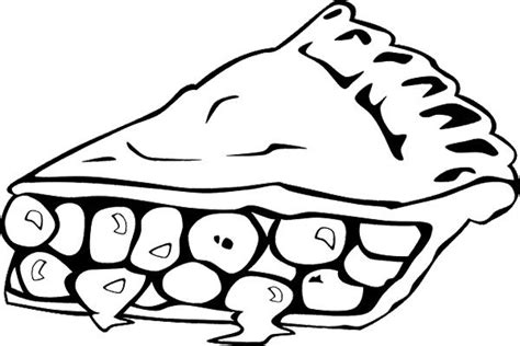 coloring page apple pie slice apple pie coloring page cookie pinterest