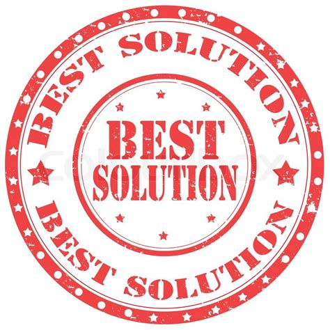 best solution grunge rubber st with text best solution vector