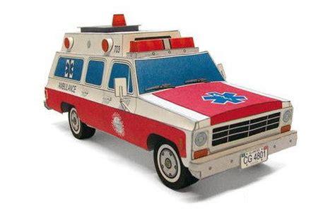Ambulance Paper Craft chevrolet suburban ambulance free vehicle paper model
