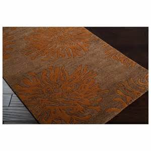 surya surya bombay sand brown burnt orange rectangle 2 x3