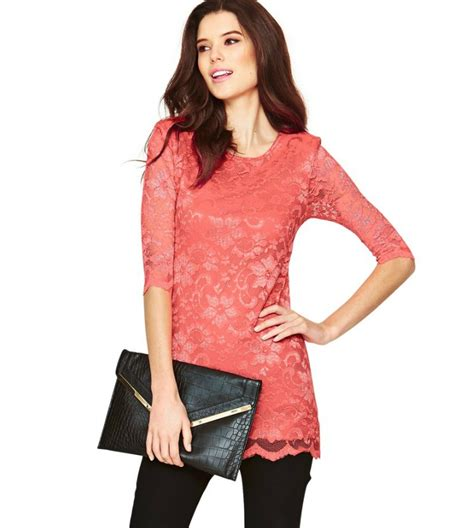 top design 2014 most fashionable long sleeve lace ladies tops latest