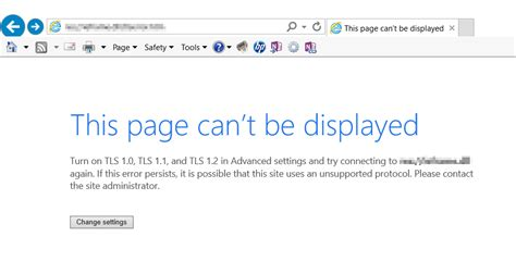 that page can t be adfs 3 0 tls error this page can t be displayed skype for business user
