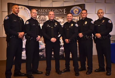 Garden Grove Ca Chief The Badge Garden Grove Pd Swears In Five New