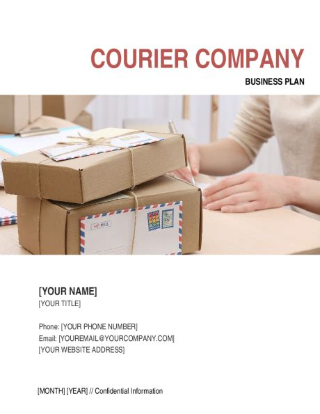 courier company business plan template sle form