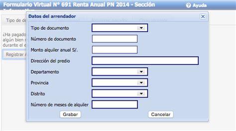 pdt renta anual 2015 ejemplo de llenado pdt renta anual 2015