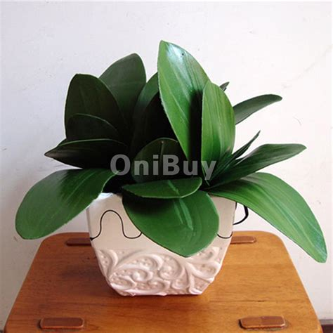 decorative flower household bonsai 1 branch green faux butterfly orchid leaf