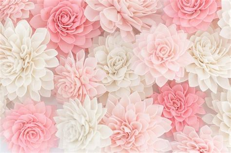 Wedding Decor Flowers by 10 Blush Wooden Flowers Wedding Decorations Wedding