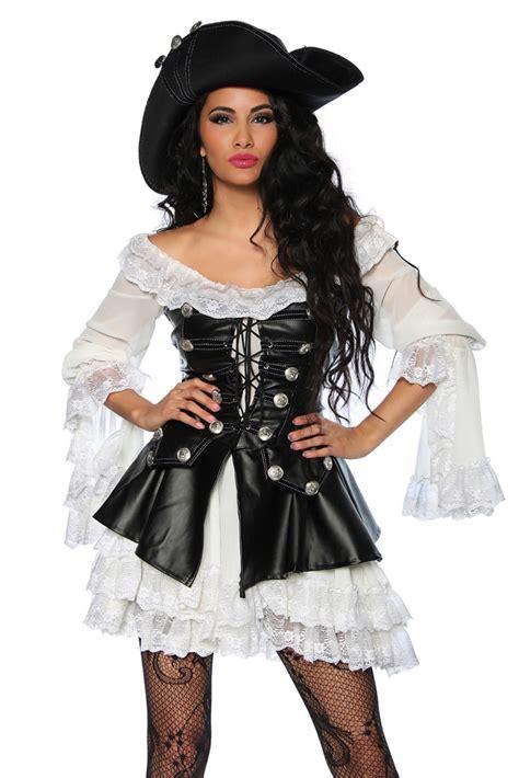piratenkostuem mit kleid corsage und hut