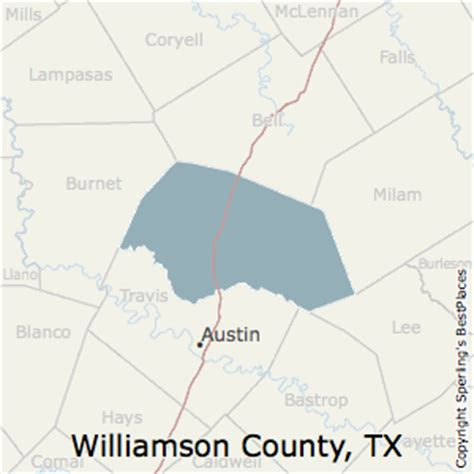 williamson county map texas best places to live in williamson county texas