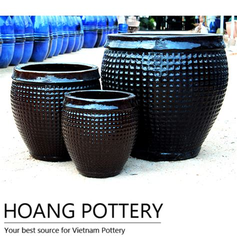 glazed ceramic pots large glazed ceramic flower pots hplo012 hoang pottery