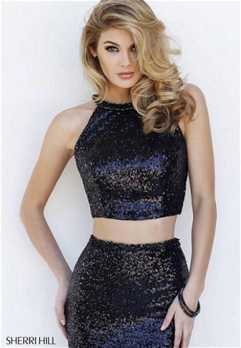 Vonna Dress In Navy mujer moda y arte cropped top o conjunto dos piezas de