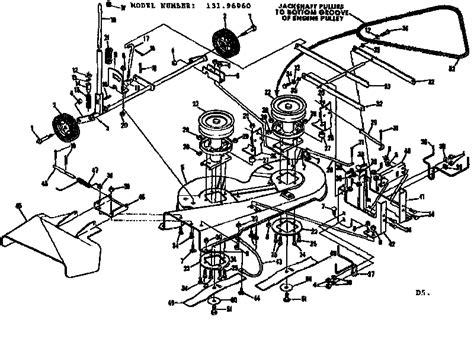 craftsman 42 inch deck diagram 42 craftsman mower deck diagram 42 get free image about