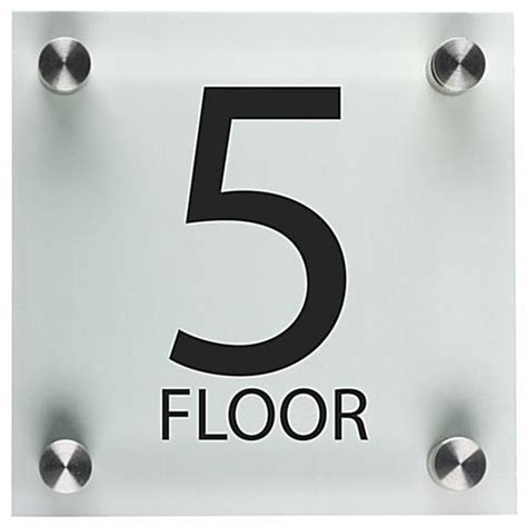 office floor number sign 6 quot x 6 quot acrylic panels
