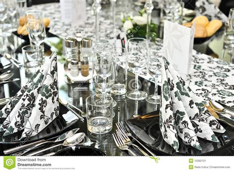 fancy place setting fancy dinner table set stock image image 10392131