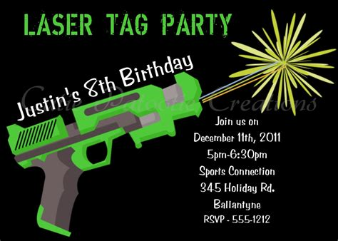 laser tag invitations templates brilliant laser tag birthday invitations to design