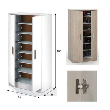 armadio portascarpe scarpiera in legno armadio portascarpe mobile 2 ante con