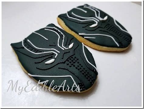 Between The Pages Black awesome black panther cookies between the pages