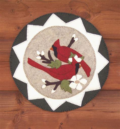 pattern wool felt cardinals and blooms wool felt kit pattern