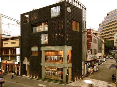 poroscape woven store facade korea stylus