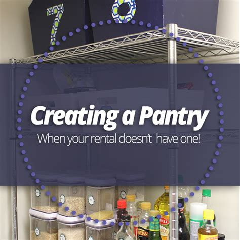 creating a pantry when your rental doesn t one