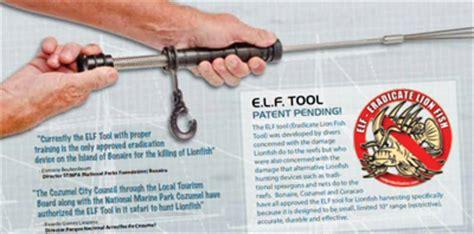 the elf tool (eradicate lion fish tool) spearguns