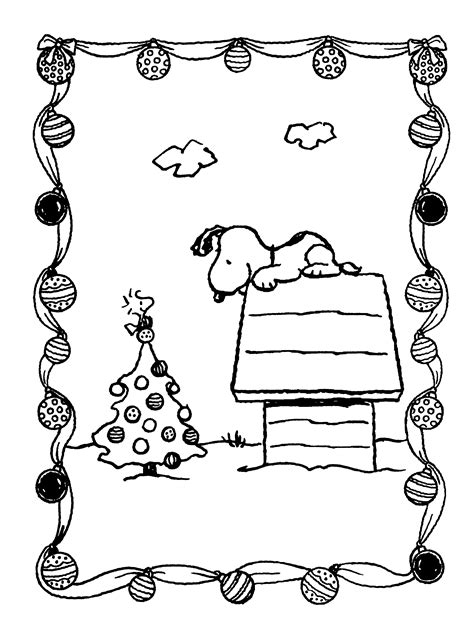 peanuts xmas coloring  activity book christmas tree