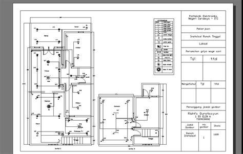 gambar instalasi listrik rumah manual