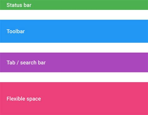 top layout guide under status bar scrolling techniques patterns google design guidelines