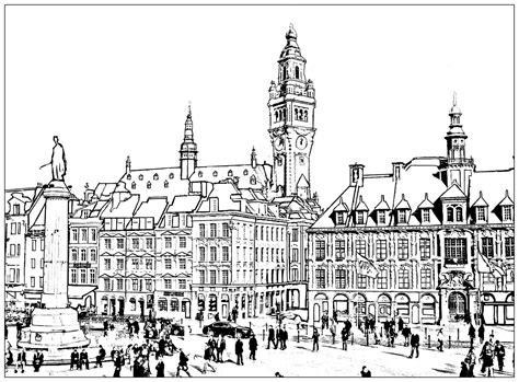 Architecture De Lille by Lille Architecture Et Habitation Coloriages