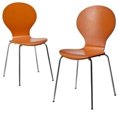stacking chair orange set of 2 dining chairs by target