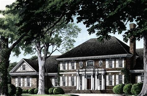 historic plantation house plans colonial plantation house plan 86335