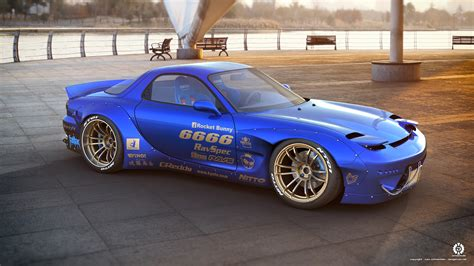 mazda rx7 rocket bunny kit rocket bunny rx7 by dangeruss on deviantart