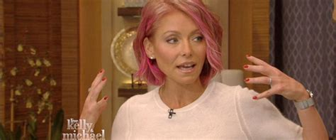 how to get hair like kelly ripa kelly ripa explains her drastic new hair style abc news
