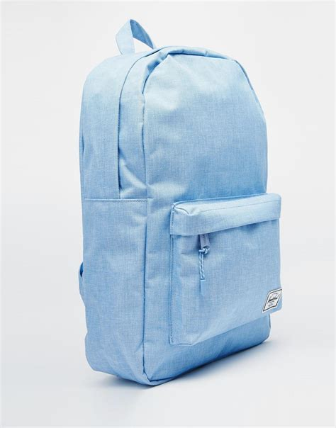 Original Herschel Classic Backpack Chambray herschel supply co classic backpack in chambray blue in blue lyst