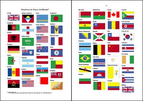 dibujos de banderas del mundo para imprimir banderas de pa 237 ses del mundo neoparaiso com didactalia